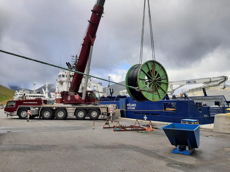 Longest sea cable to a fish farm in the Faroe Islands